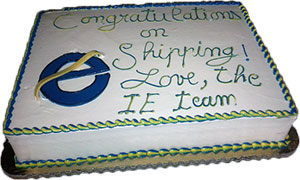 Microsoft's IE team send a cake on each Firefox release